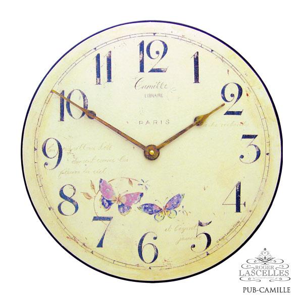 Roger Lascelles ロジャー・ラッセル イギリス発 掛け時計 掛時計 花柄 クラシックテイスト RL-PUB-CAMILLE