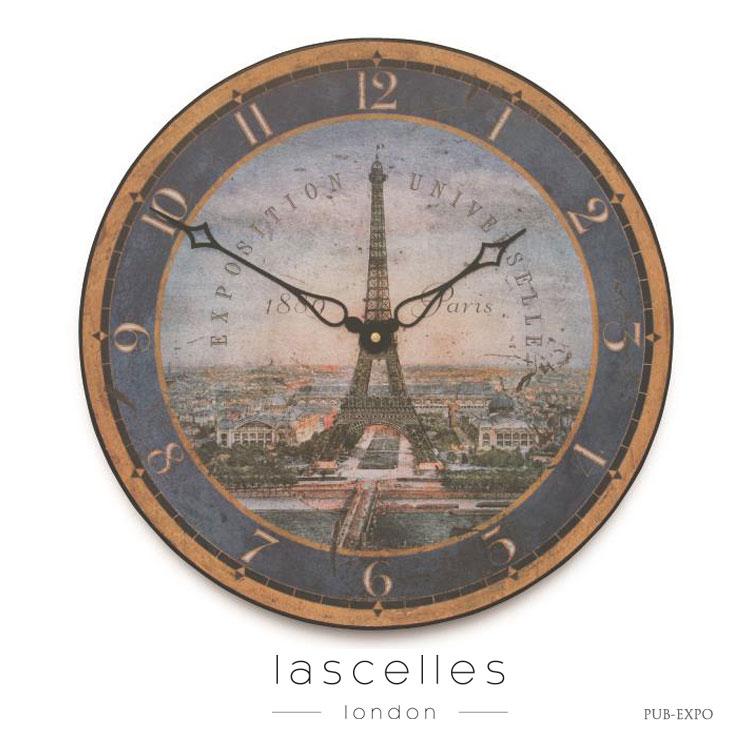 Roger Lascelles ロジャー・ラッセル イギリス製 ヴィンテージ風 エッフェル塔 掛け時計 シャビー 海外製 インポート ロジャーラッセル PUB-EXPO