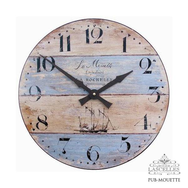 Roger Lascelles ロジャー・ラッセル イギリス発 マリンテイストの掛け時計 掛時計 クラシックテイスト クロック RL-PUB-MOUETTE