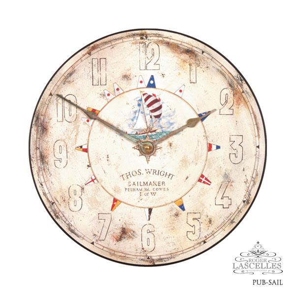 Roger Lascelles ロジャー・ラッセル イギリス発 マリンテイストの掛け時計 掛時計 クラシックテイスト クロック RL-PUB-SAIL