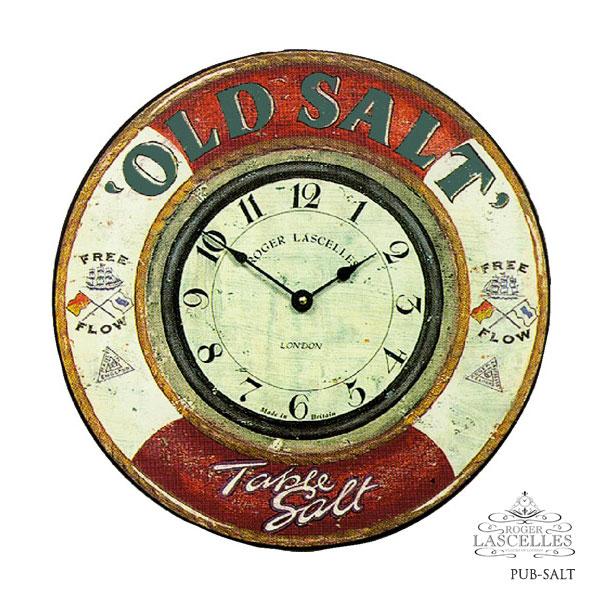 Roger Lascelles ロジャー・ラッセル イギリス発 マリンテイストの掛け時計 掛時計 クラシックテイスト クロック RL-PUB-SALT