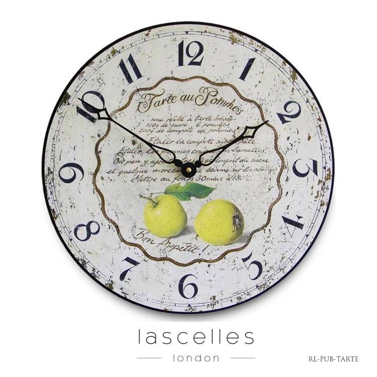 Roger Lascelles ロジャー・ラッセル イギリス製 ヴィンテージ風 キッチン時計 リンゴ 掛け時計 シャビー 海外製 インポート ロジャーラッセル PUB-TARTE