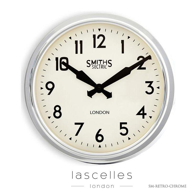 Roger Lascelles ロジャー・ラッセル イギリス製 スミスクロック デザイナーズ クローム 掛け時計 レトロ 海外製 インポート ロジャーラッセル SM-RETRO-CHROME