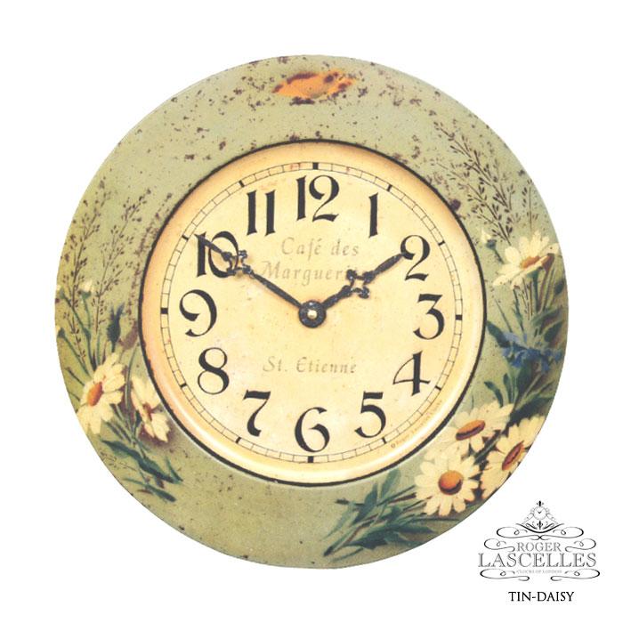 Roger Lascelles ロジャー・ラッセル イギリス製 ブリキ 掛け時計 デイジー デージー 白 ホワイト RL-TIN-DAISY 掛時計 イギリス製
