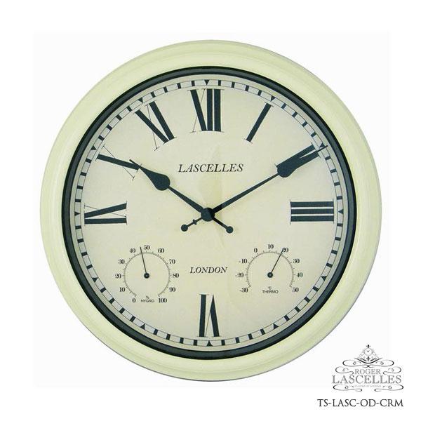 Roger Lascelles ロジャー・ラッセル イギリス製 掛け時計 クラシックテイストクロック クリーム色 白 海外製 インポート ロジャーラッセル RL-TS-LASC-OD-CRM