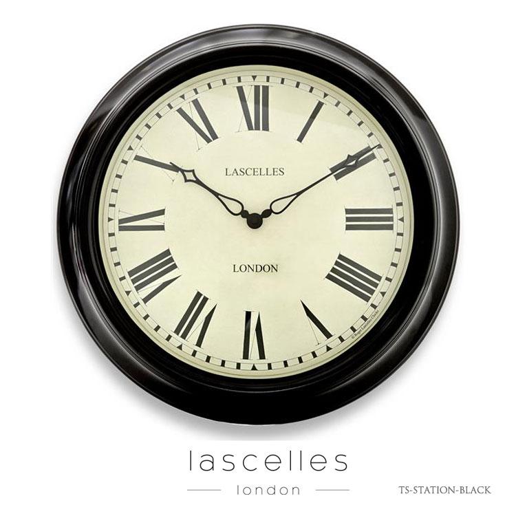 Roger Lascelles ロジャー・ラッセル イギリス製 クラシック アウトドアクロック 屋外使用可能 掛け時計 黒 海外製 インポート ロジャーラッセル TS-STATION-BLACK