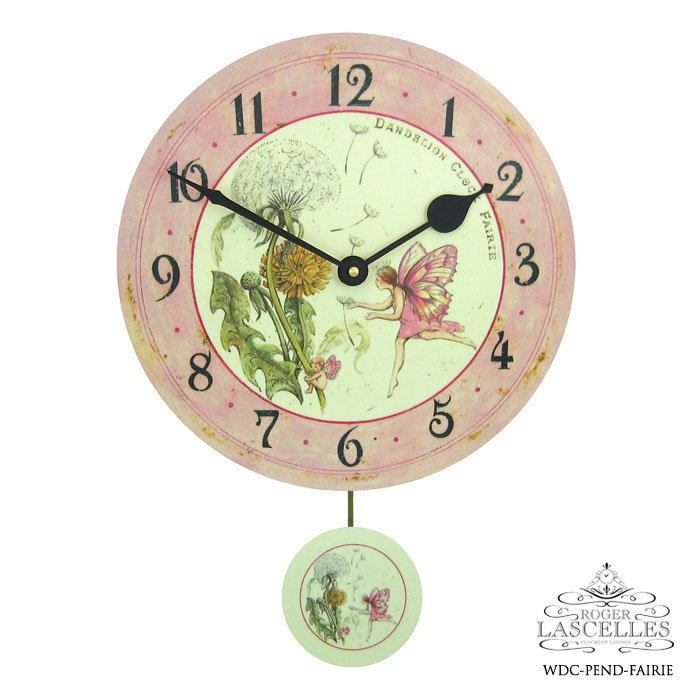 Roger Lascelles ロジャー・ラッセル イギリス製 振り子時計 掛け時計 フェアリー 妖精 子供部屋 ピンク 海外製 インポート ロジャーラッセル RL-WDC-PEND-FAIRIE