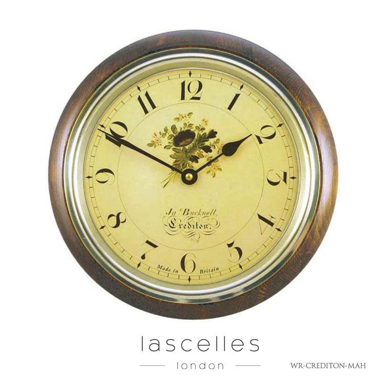 Roger Lascelles ロジャー・ラッセル イギリス製 ヴィンテージ風 クラシック クテディトン 木製 掛け時計 海外製 インポート ロジャーラッセル WR-CREDITON-MAH