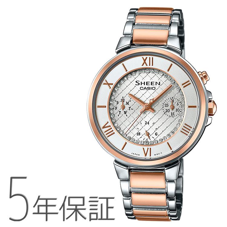 カシオ CASIO SHEEN シーン スワロフスキー SHE-3040SGJ-7AJF レディース腕時計