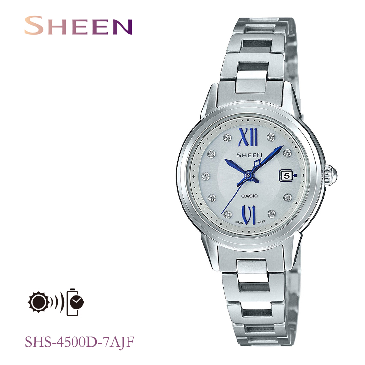 カシオ CASIO シーン SHEEN ソーラー充電 レディース 腕時計 SHS-4500D-7AJF