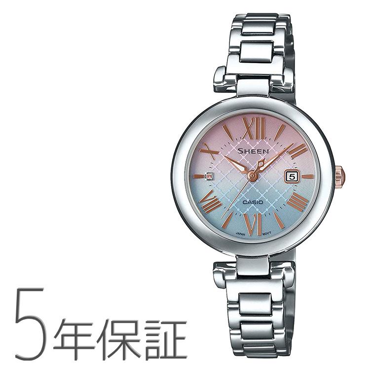SHEEN シーン SHS-4502LTE-7AJR カシオ CASIO スワロフスキー ギフトボックス入り 替えバンド付き プレゼント 腕時計 レディース