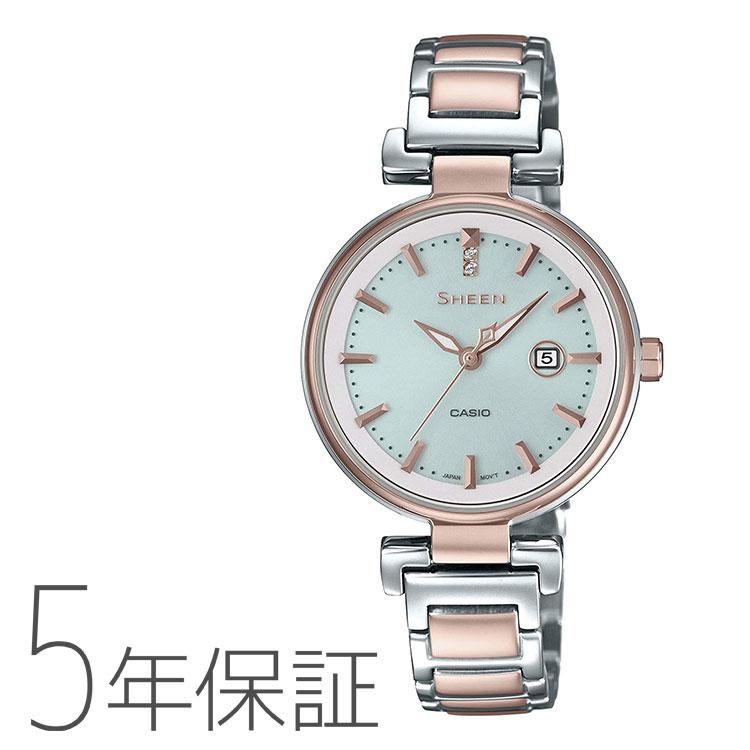 SHEEN シーン SHS-4524SCG-7AJF カシオ CASIO ピーチゴールド ソーラー バイカラー レディース 腕時計