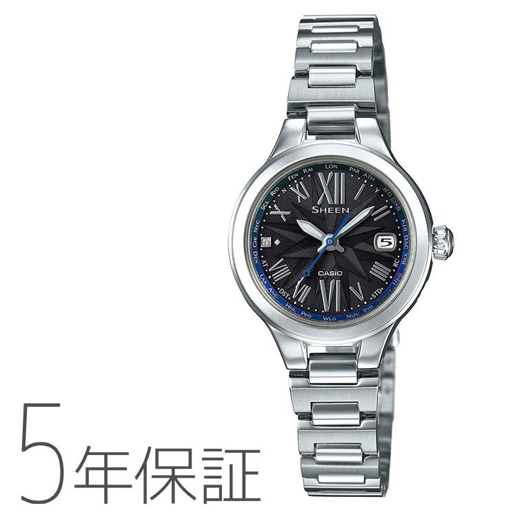 SHEEN sheen シーン SHW-1750D-1AJF カシオ CASIO 電波ソーラー ソーラー電波時計 ボヤージュシリーズ シルバー 黒 ブラック 青 ブルー 腕時計 レディース