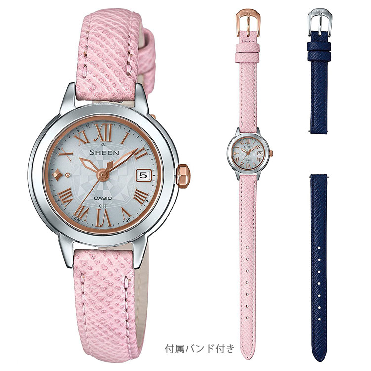 SHEEN シーン カシオ CASIO タフソーラー ソーラー電波 腕時計 替えバンド付 10気圧防水 レディース SHW-5000LTD-7AJR