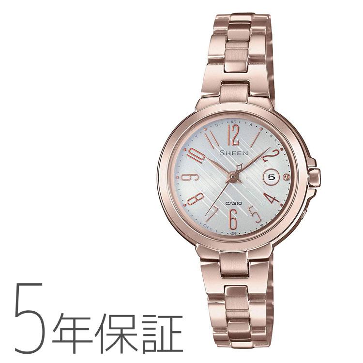 CASIO カシオ SHEEN シーン タフソーラー 電波ソーラー 電波腕時計 レディース SHW-5100CG-7AJF