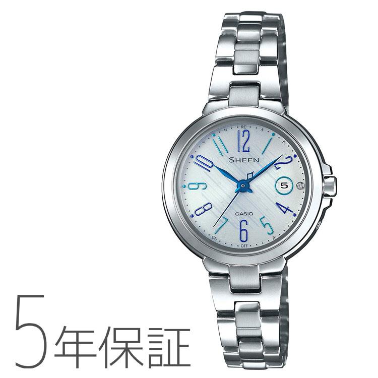 CASIO カシオ SHEEN シーン タフソーラー 電波ソーラー 電波腕時計 レディース SHW-5100D-7AJF