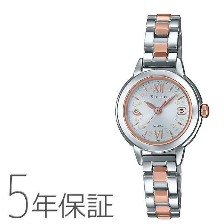 シーン SHEEN SHW-5200DSG-7AJF カシオ CASIO ナチュラルガーデン ピンクゴールド 電波ソーラー バイカラーバンド 腕時計 レディース