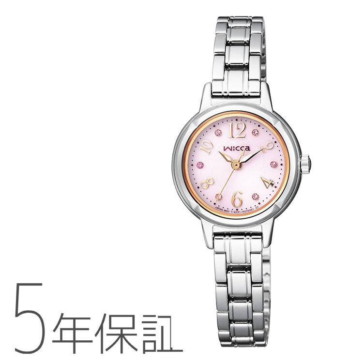 シチズン CITIZEN Wicca ウィッカ ソーラー電源 スワロフスキー ピンク KH9-914-93 腕時計 レディース