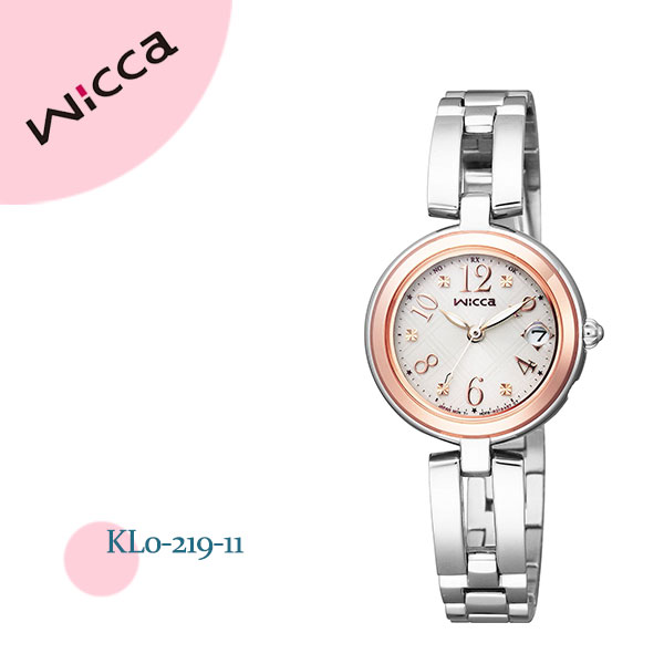 シチズン CITIZEN Wicca ウィッカ 電波時計 ハッピーダイアリー KL0-219-11 腕時計 レディース