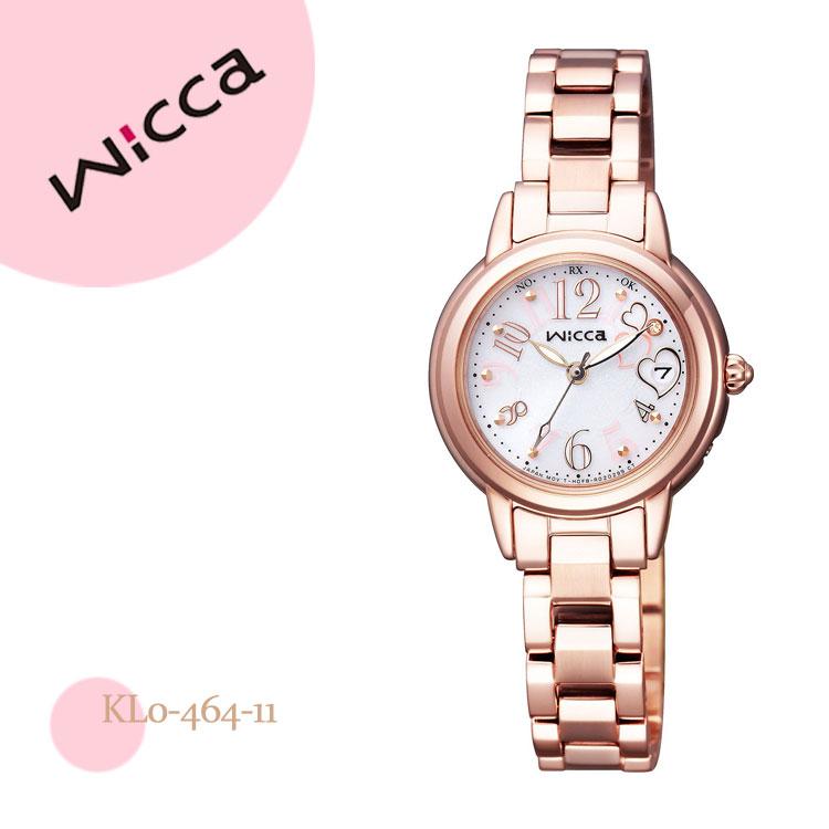 シチズン CITIZEN wicca ウィッカ 電波時計 ハッピーダイアリーコラボ KL0-464-11腕時計 レディース
