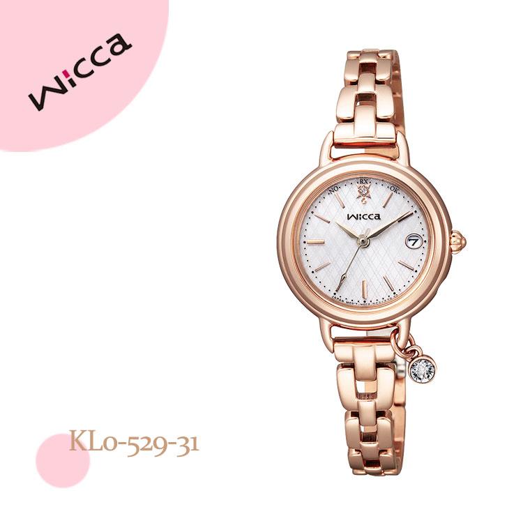 シチズン CITIZEN ウィッカ wicca ハッピーダイアリー ブレスライン チャーム付き KL0-529-31 腕時計 レディース