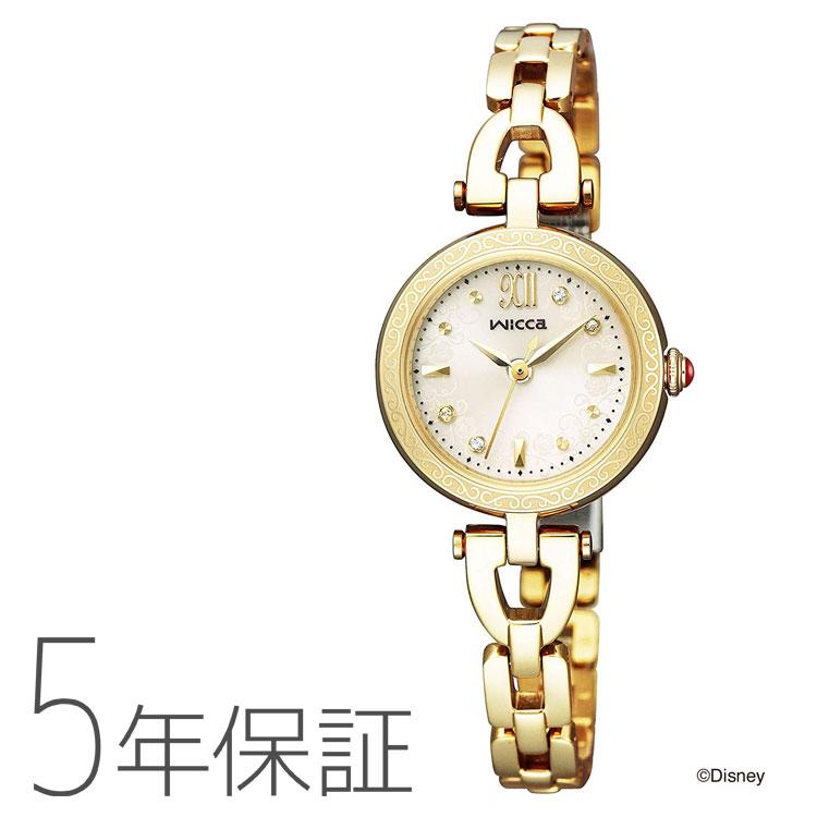 ウィッカ wicca KP3-325-31 シチズン CITIZEN ディズニー コレクション 「美女と野獣」「ベル」モデル 金 ゴールド 腕時計 レディース Disney