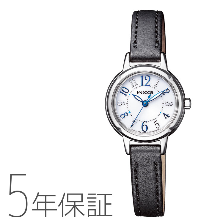 wicca ウィッカ KP3-619-12 シチズン CITIZEN ソーラーテック 革バンド レディース 腕時計