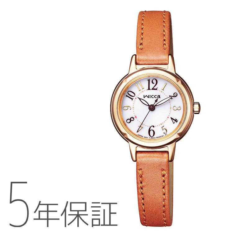 wicca ウィッカ KP3-627-10 シチズン CITIZEN ソーラーテック 革バンド レディース 腕時計