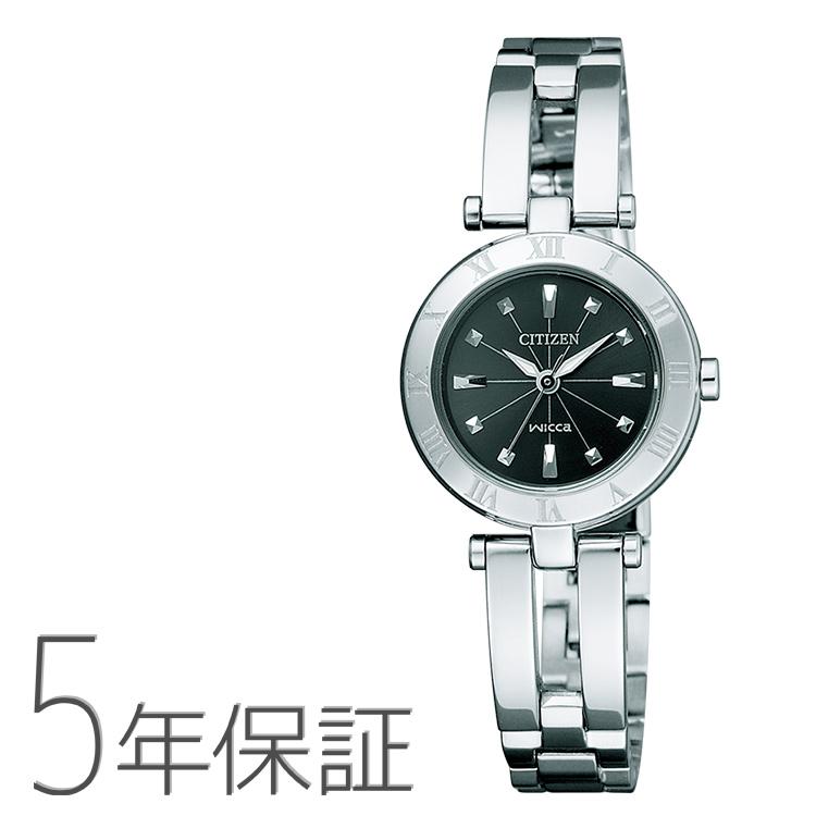 シチズン CITIZEN ウィッカ wicca ソーラーテック ハーフバングルモデル NA15-1571C 腕時計 レディース