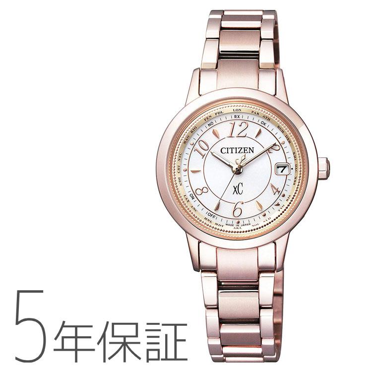 クロスシー xC シチズン CITIZEN EC1144-51C ソーラー電波時計 サクラピンク ハッピーフライト ティタニアライン レディース 腕時計