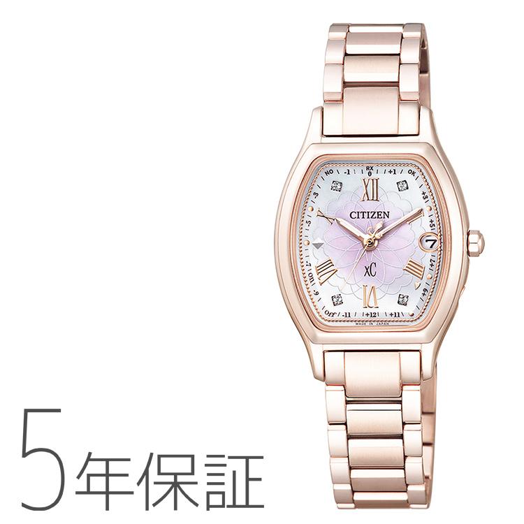 xC クロスシー ES9354-51W シチズン CITIZEN 電波ソーラー ティタニアライン サクラピンク レディース 腕時計