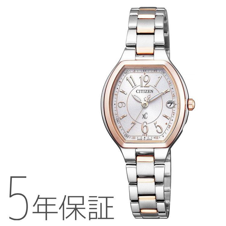 シチズン CITIZEN xC クロスシー エコ・ドライブ 電波時計 トノー型 ハッピーフライト レディース ES9364-57A 腕時計