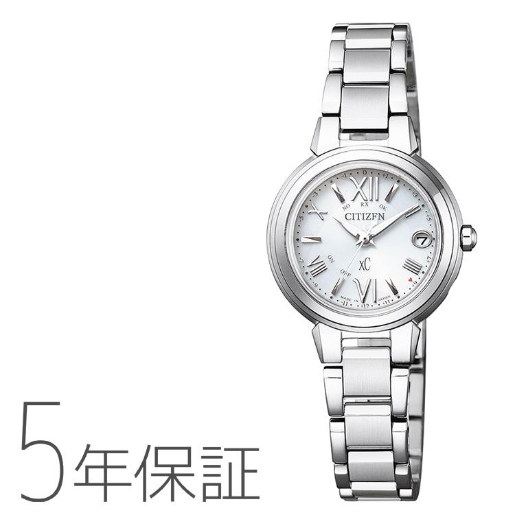 xC クロスシー ES9430-54A シチズン CITIZEN 電波ソーラー ハッピーフライト シルバー レディース 腕時計
