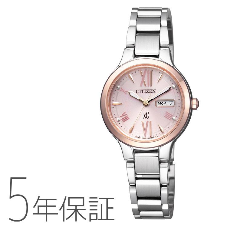 シチズン CITIZEN XC クロスシー エコ・ドライブ デイデイト レディース ew3224-53w腕時計