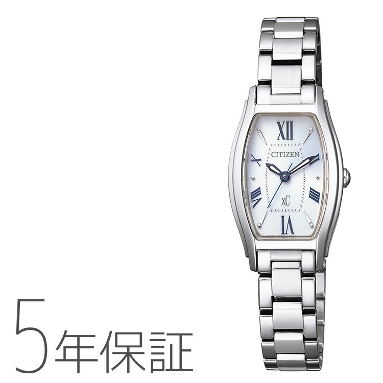 xC クロスシー EW5540-52A シチズン CITIZEN エコドライブ トノーフェイス シルバー レディース 腕時計