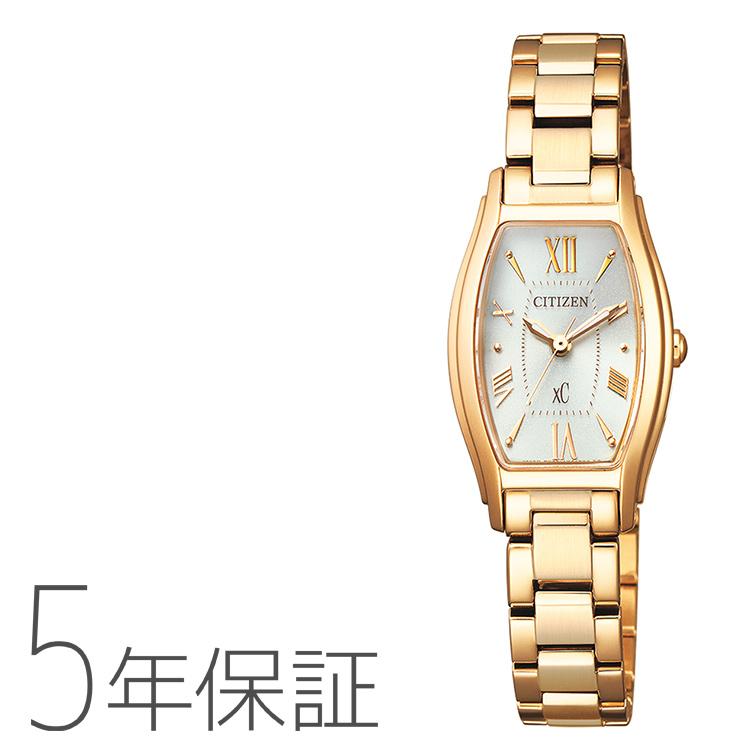 xC クロスシー EW5542-57A シチズン CITIZEN エコドライブ トノーフェイス ローズゴールド レディース 腕時計