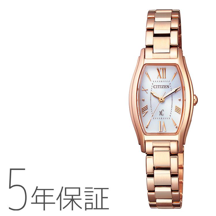 xC クロスシー EW5543-54A シチズン CITIZEN エコドライブ トノーフェイス ピンクゴールド レディース 腕時計