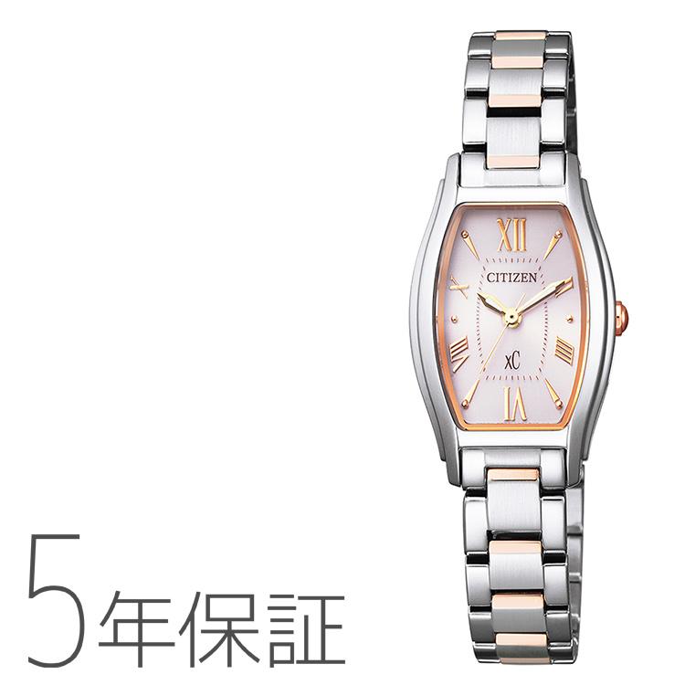 xC クロスシー EW5544-51W シチズン CITIZEN エコドライブ トノーフェイス ピンクゴールド レディース 腕時計