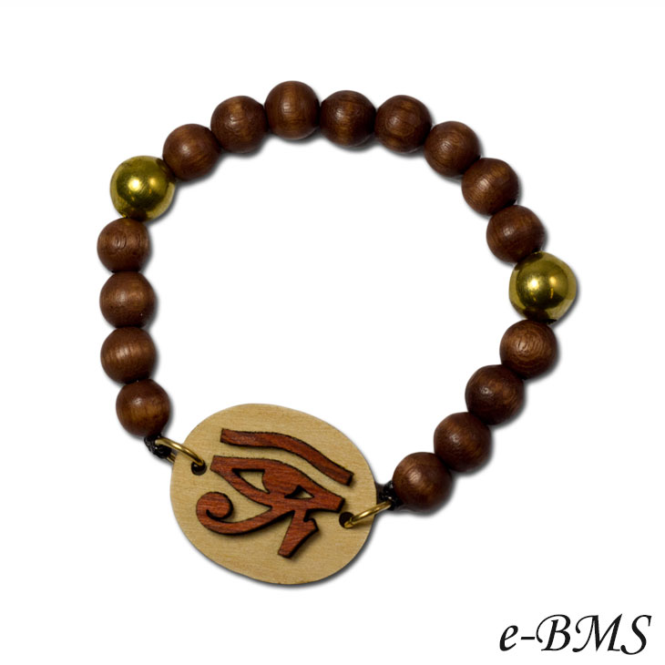 GOOD WOOD NYC - Eye of Horus Bracelet (Brown)-bracelet
