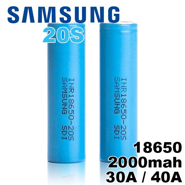 セール 特集 18650 バッテリー サムスン 電子タバコ VAPE 激安☆超特価 電池 Samsung MOD 2000mAh 1個 メーカー正規品 20S 充電可能