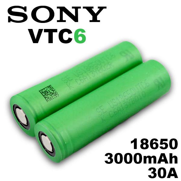 18650 バッテリー ソニー 通信販売 電子タバコ 高価値 VAPE 電池 Sony メーカー VTC6 MOD 3000mAh 1個 正規品 充電可能