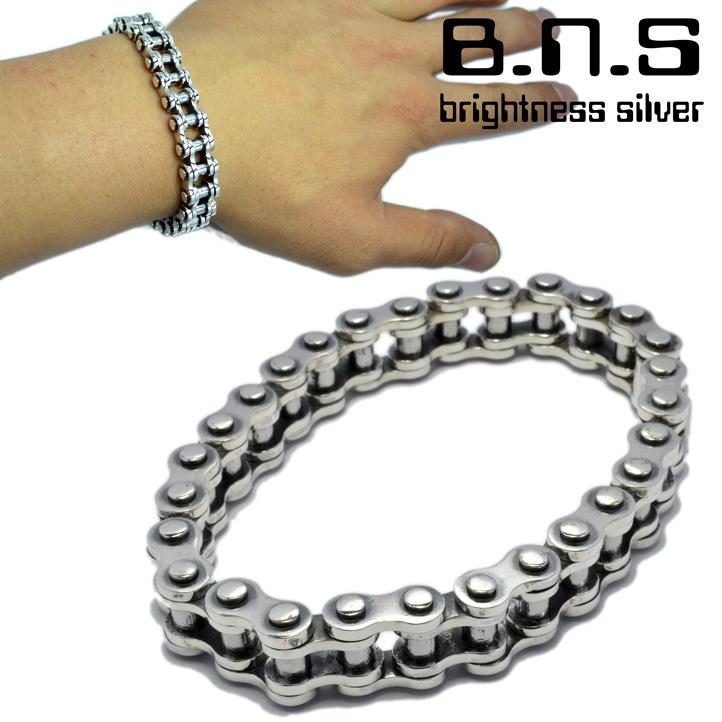 Motorcycle Chain Bracelet M Silver 925
