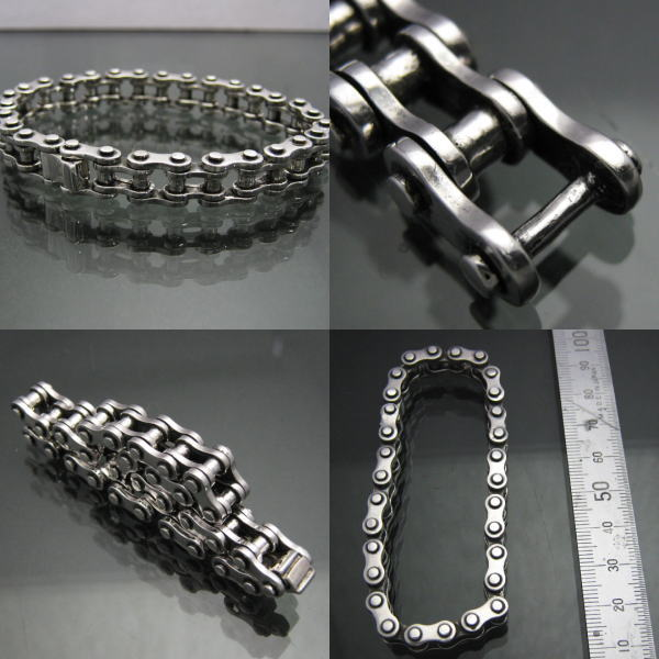 The Highest Quality Motorcycle Chain Bracelet S Silver 925