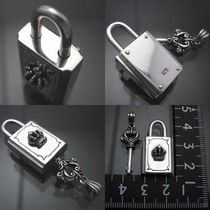 최고 품질 크라운 자물쇠 및 열쇠 펜 던 트 실버 925