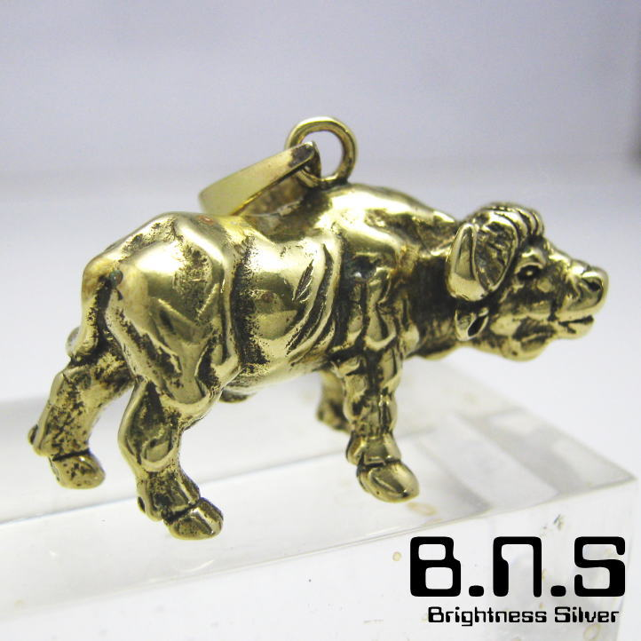 水牛のペンダント 金色の水牛 バッファローペンダント ブラス 真鍮 アフリカバッファロー 動物 Syncerus buffalo バファロー 買物 caffer 70%OFFアウトレット