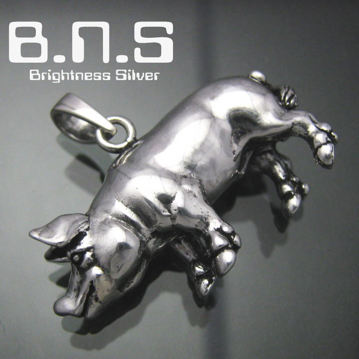 银猪但吊坠银 925 SV925 silver925 (猪,猪,动物)