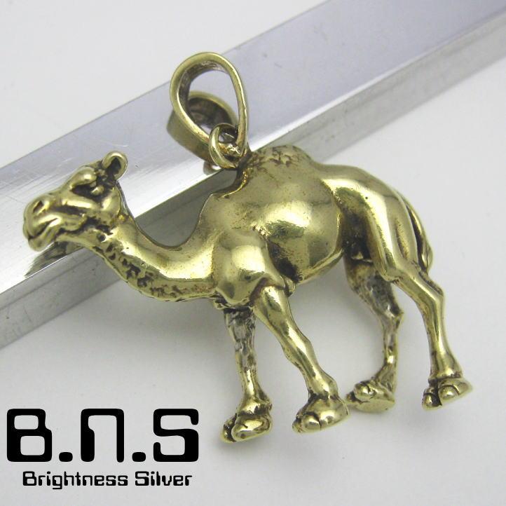 新発売 ラクダのペンダント 金色の駱駝 ヒトコブラクダペンダント 真鍮 ブラス 新作 brass ネックレス ラクダ camel Camelus らくだ dromedarius キャメル 動物