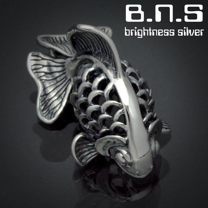 銀の金魚 琉金ペンダント【小】 銀製 シルバー925 SV925 silver925(キンギョ、りゅうきん、流金、リュウキン 和アクセサリー 和風 Goldfish)