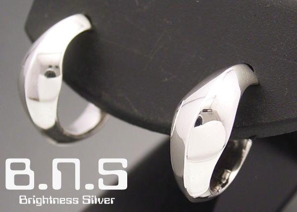 日本正規代理店品 滑らかなライン 片方 再販ご予約限定送料無料 ソフトエッジリングピアス シルバー925