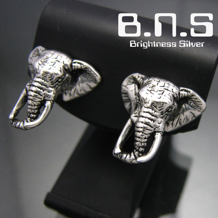 アフリカゾウの頭部をかたどった銀のピアスです 銀の象 アフリカゾウピアス 期間限定お試し価格 片方販売 シルバー925 エレファント ぞう africana Loxodonta 動物 無料